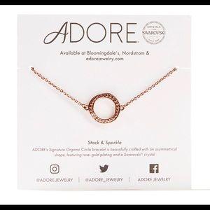 Adore by Swarovski® Circle Bracelet in Rose Gold